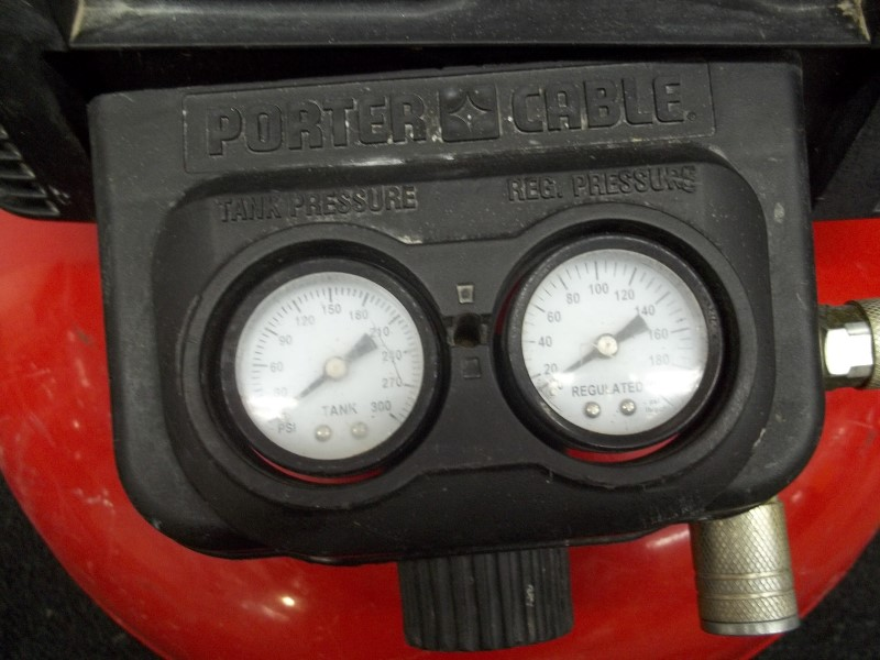 PORTER CABLE COMPRESSOR C2002 TYPE 9, 6 GALLON, 150PSI MAX, 2.6SCFM @ 90PSI