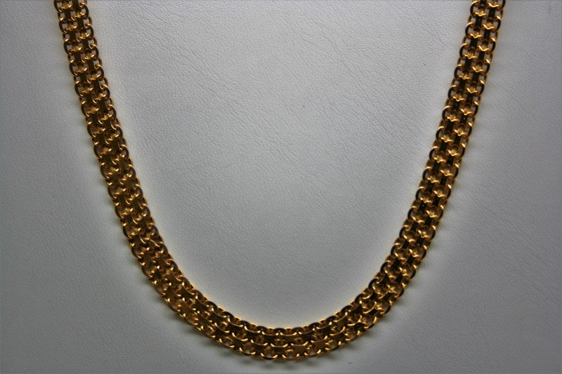 """19"""" FASHION STYLE NECKLACE 14K YELLOW GOLD"""