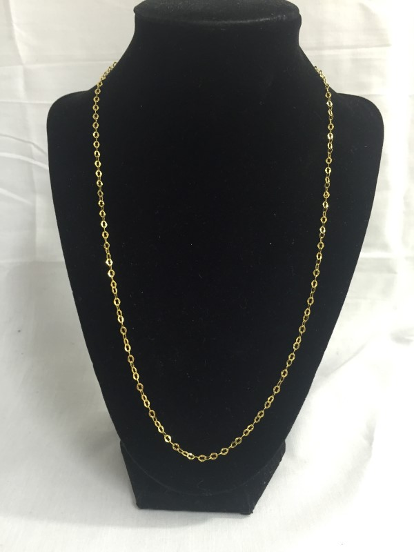 """22"""" Gold Chain 10K Yellow Gold 1dwt"""