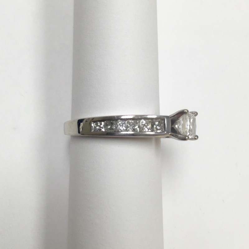 Lady's Diamond Engagement Ring 13 Diamonds 1.03 Carat T.W. 14K White Gold