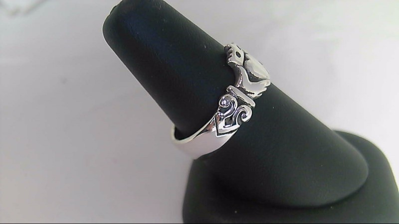 Lady's Claddagh Sterling Silver Ring 925 Size 8