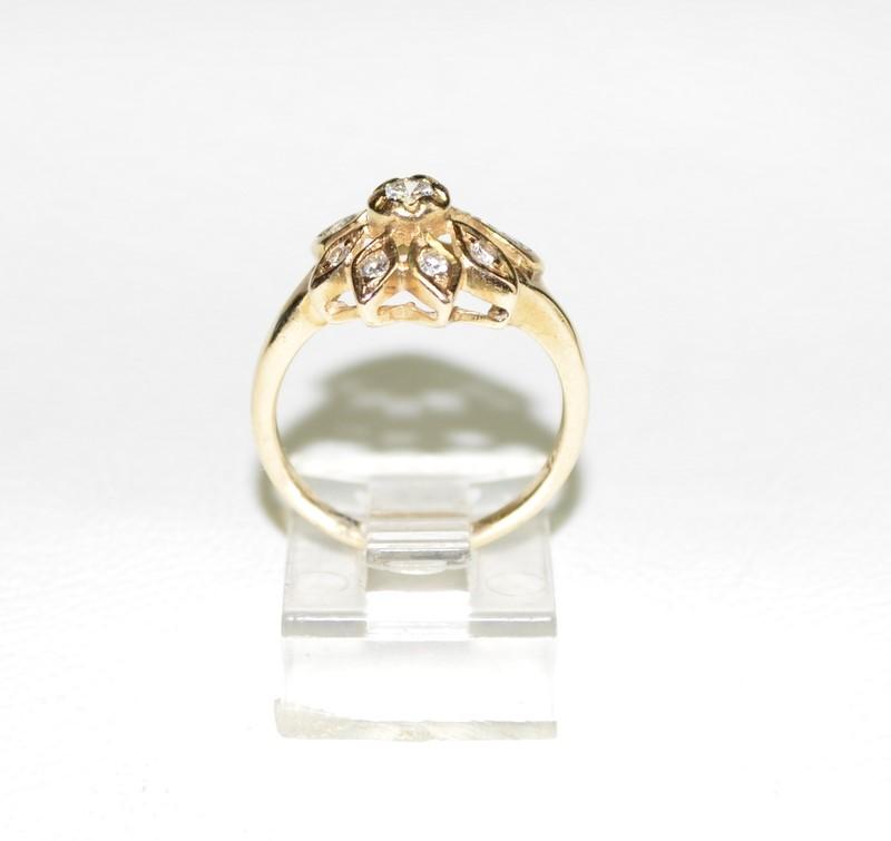 Lady's Diamond Fashion Ring 9 Diamonds .36 Carat T.W. 14K Yellow Gold 3.3g