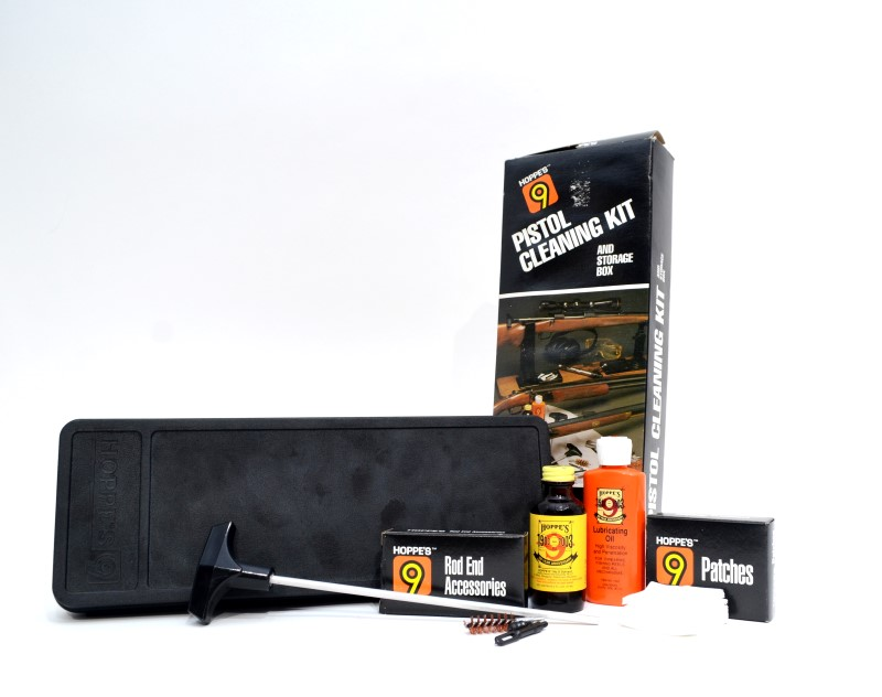Hoppe's 9 Pistol Cleaning Kit and Storage Box .38 Caliber PC038 *