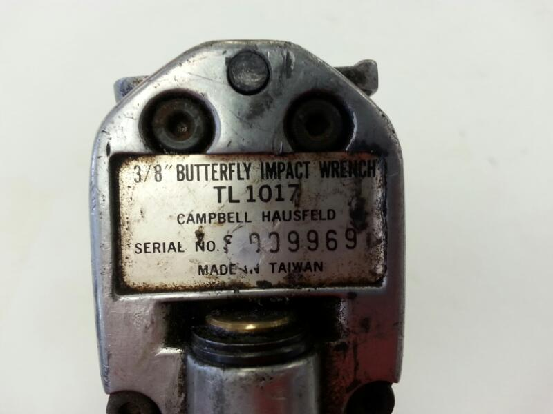"""CAMPBELL HAUSFELD 3/8"""" AIR BUTTERFLY IMPACT WRENCH TL1017]"""