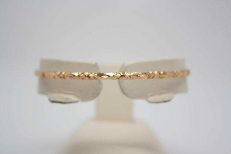 FASHION STYLE BANGLE BRACELET 18K YELLOW GOLD