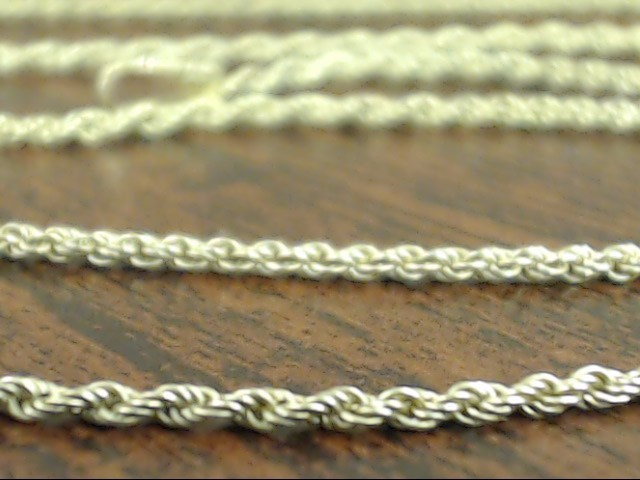"""VINTAGE ROPE TWIST NECKLACE CHAIN REAL 10K GOLD THIN 1.2mm 2.4g 18"""""""