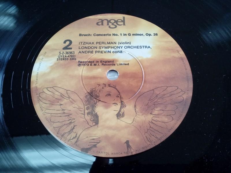 CAPITOL RECORDS ITZHAK PERLMAN MENDELSSOHN/BRUCH VINYL
