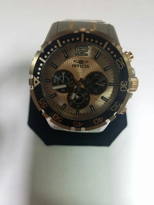 INVICTA 16289 GOLD/SILVER WATCH PLATED   100.2KST SIL MNS #7 WATCH