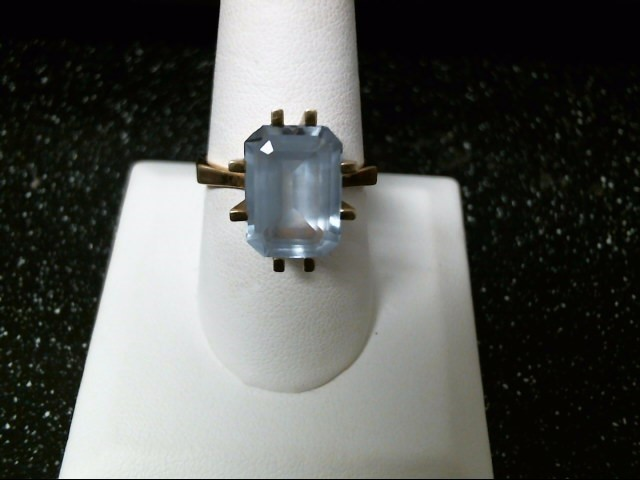 Blue Stone Lady's Stone Ring 14K Yellow Gold 6g