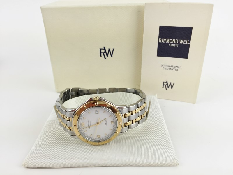 RAYMOND WEIL TWO TONE QUARTZ 5560 TANGO WATCH