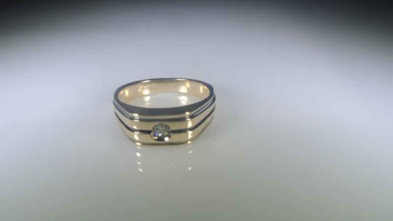 Gent's Diamond Fashion Ring .10 CT. 14K Yellow Gold 5.75g