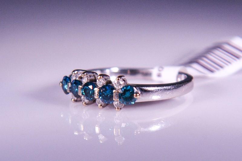 Lady's Diamond Fashion Ring 13 Diamonds .58 Carat T.W. 14K White Gold 4.5g