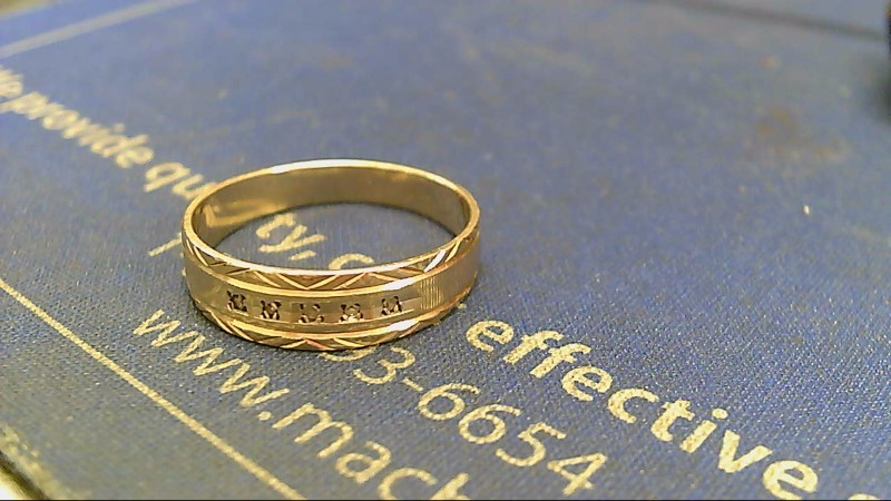 Gent's Gold Wedding Band 14K Yellow Gold 2.8g