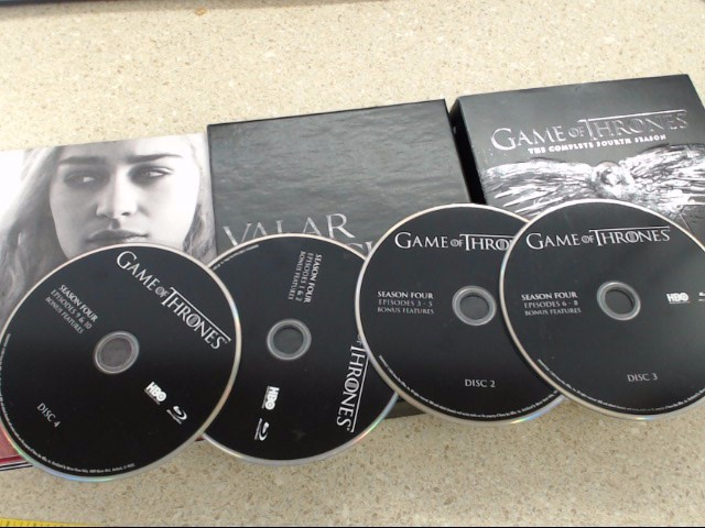 GAME OF THRONES THE COMPLETE FOURTH SEASON - BLU-RAY 4 DISC BOX SET