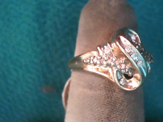 Lady's Diamond Fashion Ring 19 Diamonds .19 Carat T.W. 10K Yellow Gold 2.7dwt