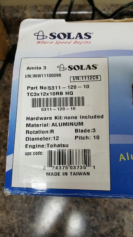 Solas Amita 3, 5311-120-10 12 X 10 C+ ( C ), Nissan/Tohatsu