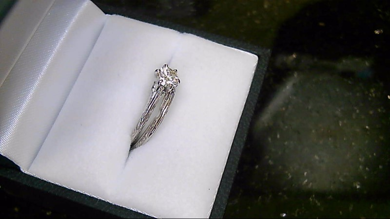 Lady's Diamond Wedding Set .36 CT. 14K White Gold 3.57g