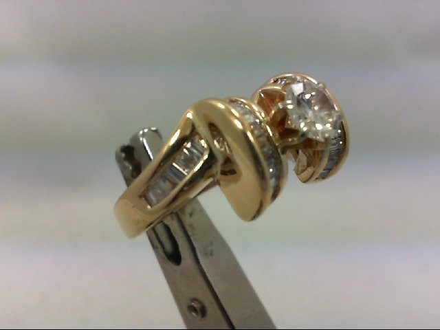 Lady's Diamond Eng Ring 38 Diamonds 1.33 Carat T.W. 14K Yellow Gold 8.28g