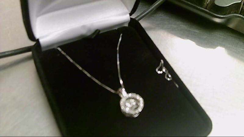 Diamond Necklace 21 Diamonds .40 Carat T.W. 14K White Gold 3.1g