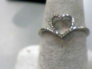 Lady's Gold Ring 10K White Gold 1dwt Size:7
