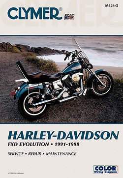 BIKERS CHOICE Motorcycle Part 700424 CLYMER REPAIR MANUAL 91-98 FXDYNA