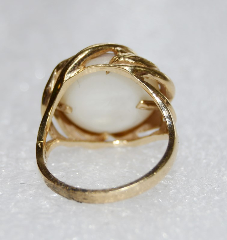 14K YELLOW GOLD TIDAL WAVE 135.MM BAROQUE PEARL SIZE:5.75
