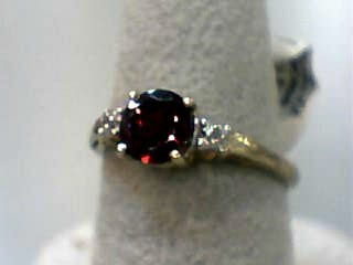 Almandite Garnet Lady's Stone Ring 10K Yellow Gold 1.5dwt Size:7
