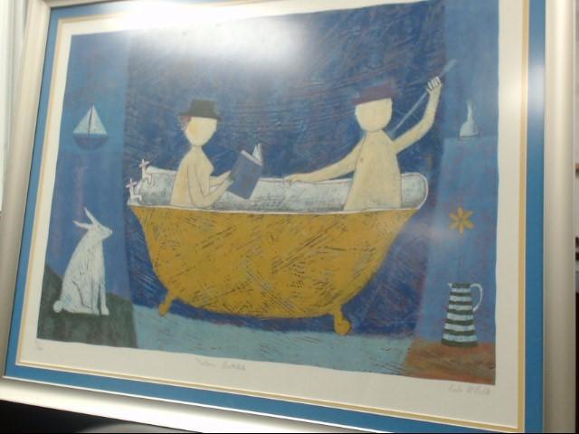 PAULA MCARDLE Painting YELLOW BATHTUB