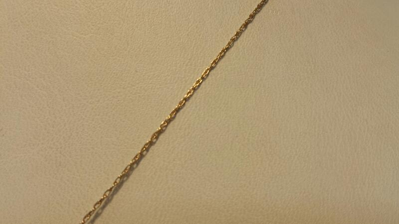 """10k Yellow Gold Necklace & Heart Pendant with 25 Diamonds - 1.8dwt - Lenght 20"""""""