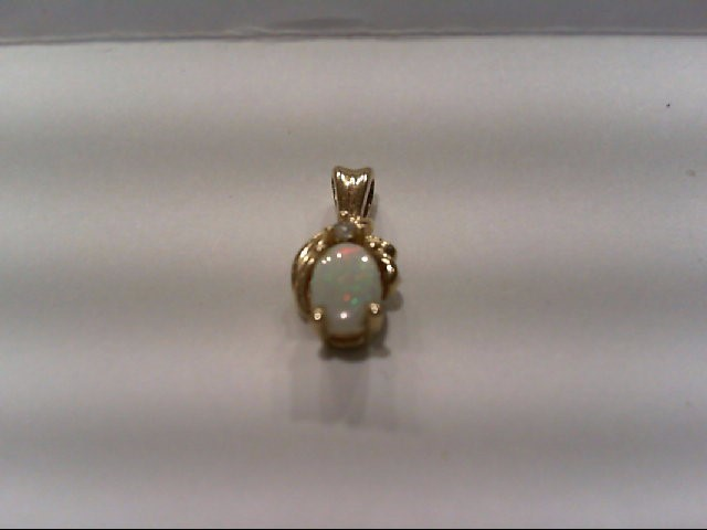 Gold-Diamond Solitaire Pendant .01 CT. 10K Yellow Gold 1g