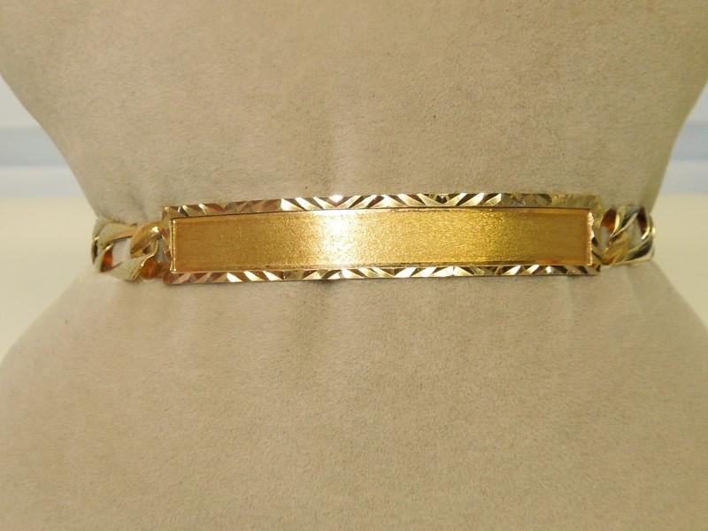 Gold Link Bracelet 10K 2 Tone Gold 7g