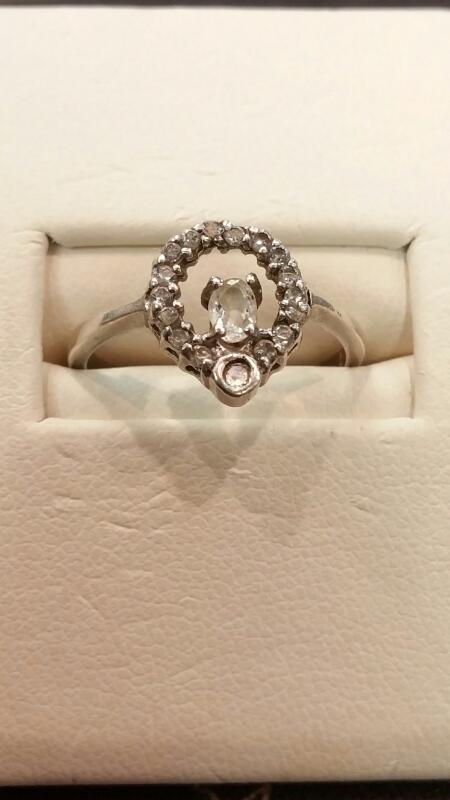 Lady's Silver Ring 925 Silver 1.5dwt Size:7