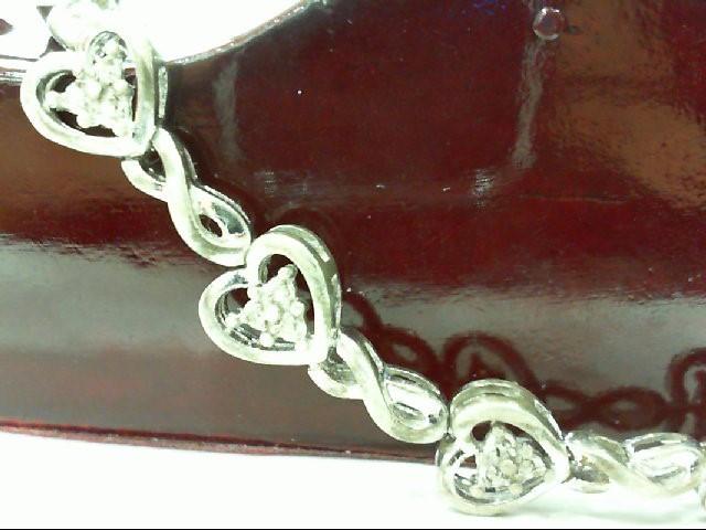 Silver-Diamond Bracelet 36 Diamonds .36 Carat T.W. 925 Silver 10.8g