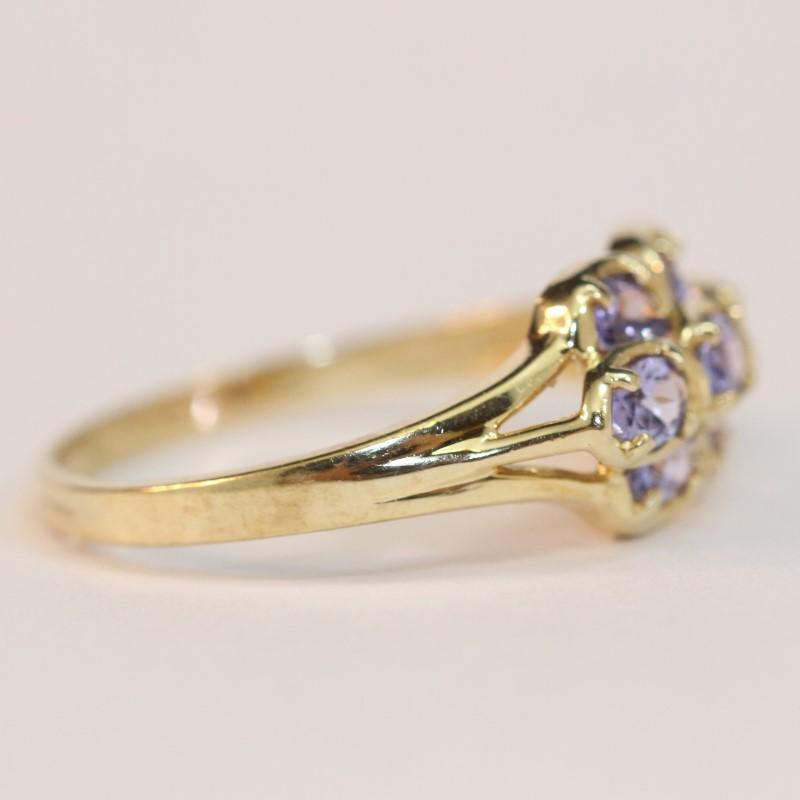 10K Yellow Gold Tanzanite Ring Size 10