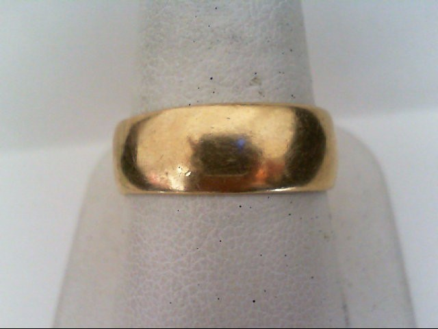 Gent's Gold Wedding Band 14K Yellow Gold 6.4g