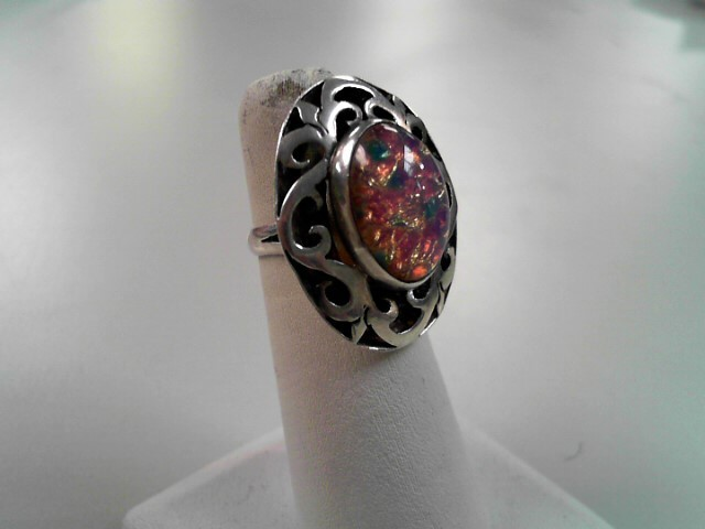 Lady's Silver Ring 925 Silver 7g Size:6.3