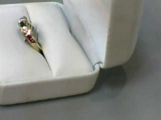 Synthetic Ruby Lady's Stone Ring 14K Yellow Gold 1.8dwt Size:7