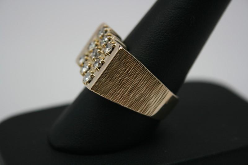 GENT'S FASHION DIAMOND RING 14K YELLOW GOLD