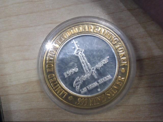 STRATOSSPHERE Silver Coin GAMING TOKEN