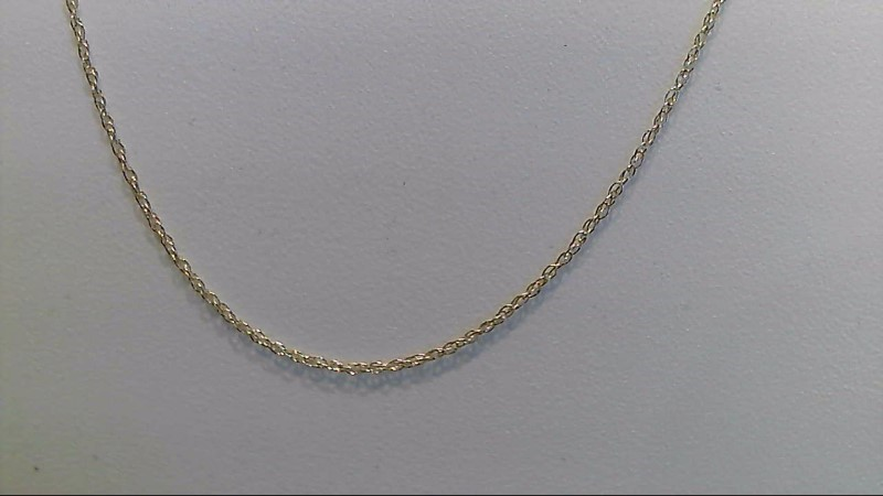 Lady's 14k yellow gold 18 inch fine chain