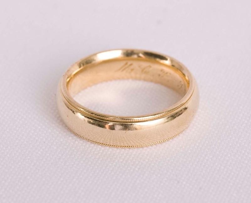 Gent's Gold Wedding Band Ring 14K Yellow Gold 7.3g