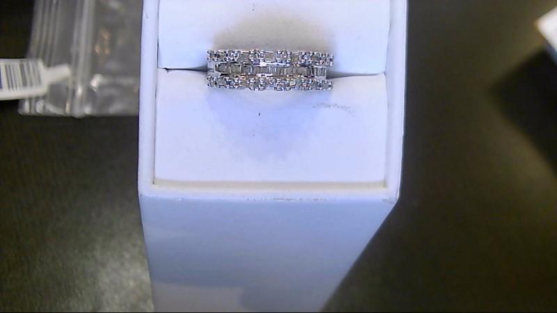 Lady's Diamond Fashion Ring 49 Diamonds .410 Carat T.W. 10K White Gold 3g