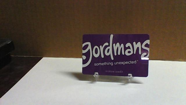 GORDMANS $80.23 Merchandise Credit