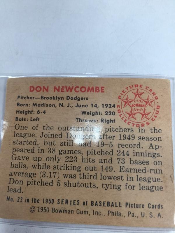 1950 BOWMAN DON NEWCOMBE BASEBALL CARD
