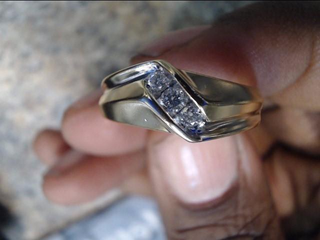 Lady's Diamond Engagement Ring 3 Diamonds .11 Carat T.W. 14K Yellow Gold