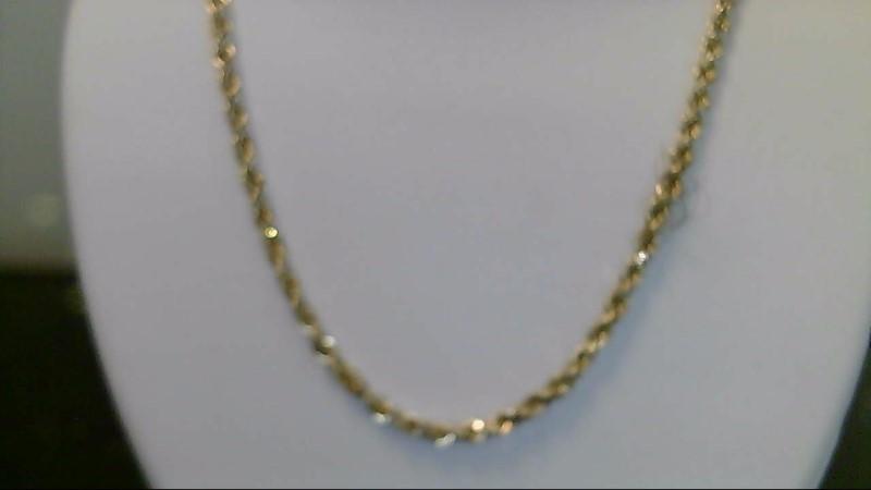 10k yellow gold 18 inch rope chain