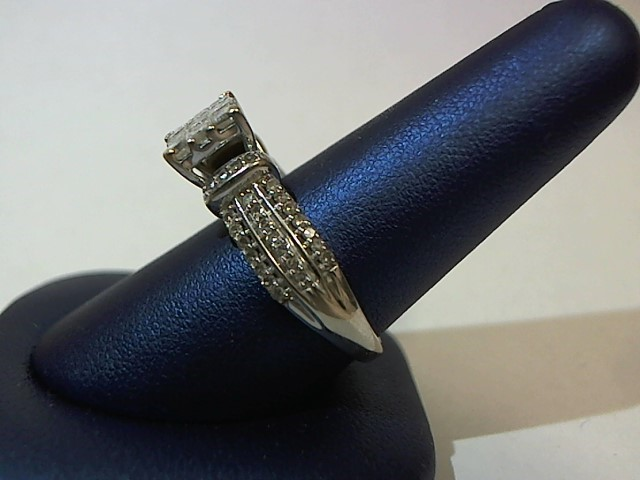 Lady's Diamond Fashion Ring 59 Diamonds 1.54 Carat T.W. 10K White Gold 5.8g
