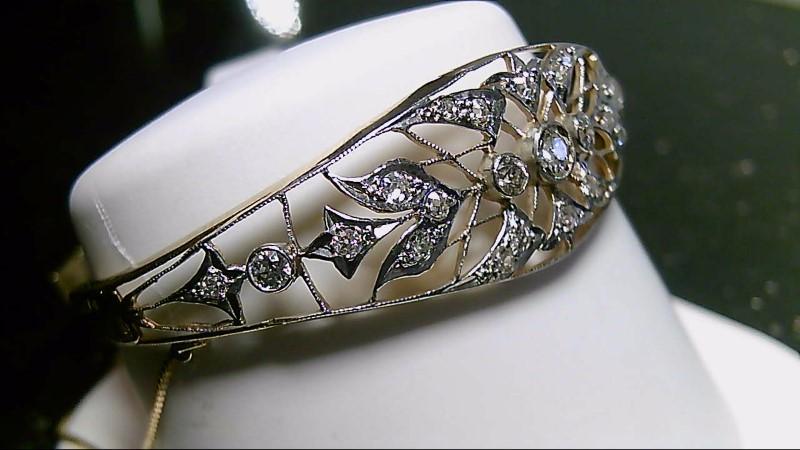 "7"" European Diamond Bracelet 1.93 CTTW 10K Yellow Gold 12.8g"