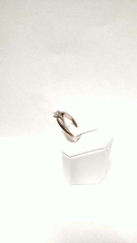 Lady's Diamond Solitaire Ring .31 CT. 14K White Gold 4.8g Size:7