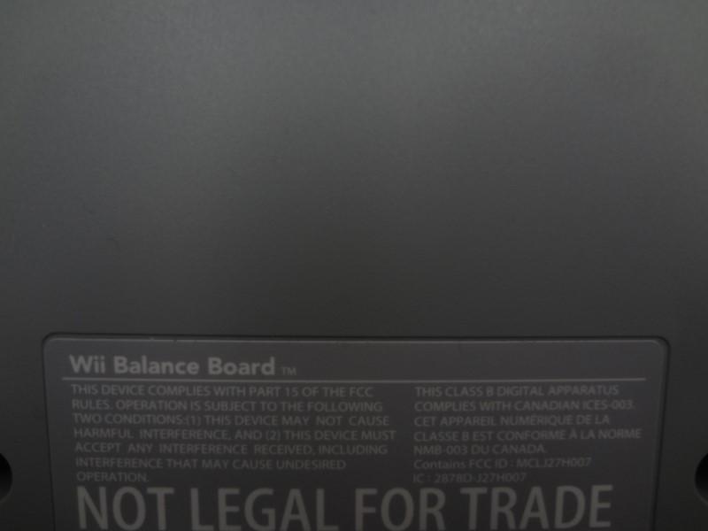 NINTENDO VIDEO GAME ACCESSORY WII BALANCE BOARD